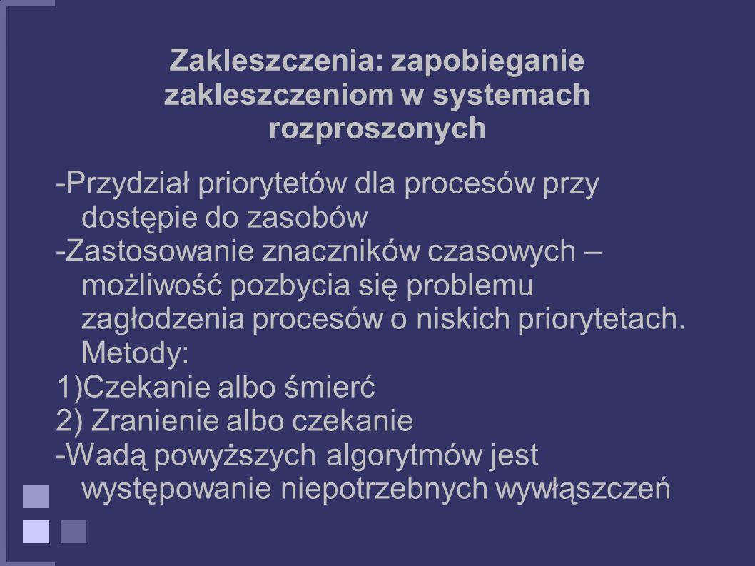 Zakleszczenia: zapobieganie zakleszczeniom w systemach rozproszonych