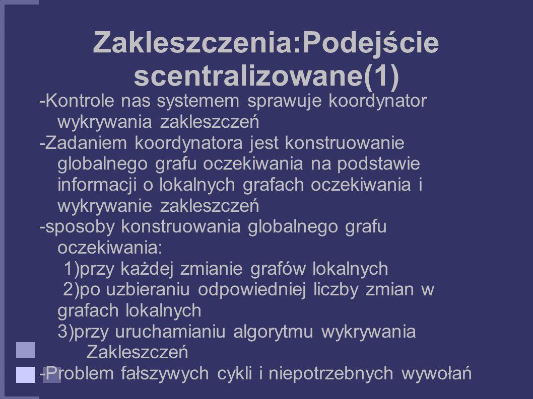 Zakleszczenia:Podejście scentralizowane(1)