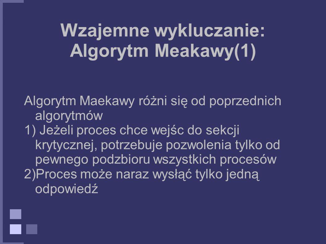 Wzajemne wykluczanie: Algorytm Meakawy(1)