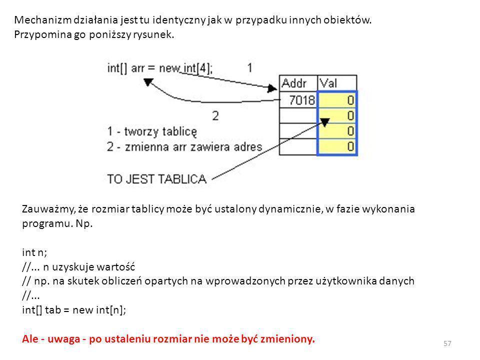 Mechanizm działania jest tu identyczny jak w przypadku innych obiektów
