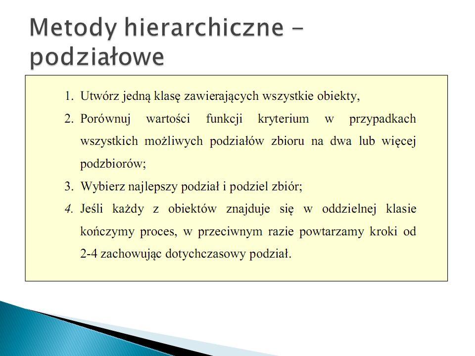 Metody hierarchiczne - podziałowe