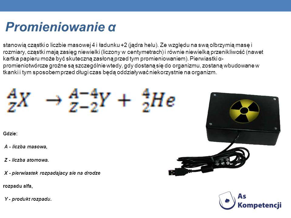Promieniowanie α