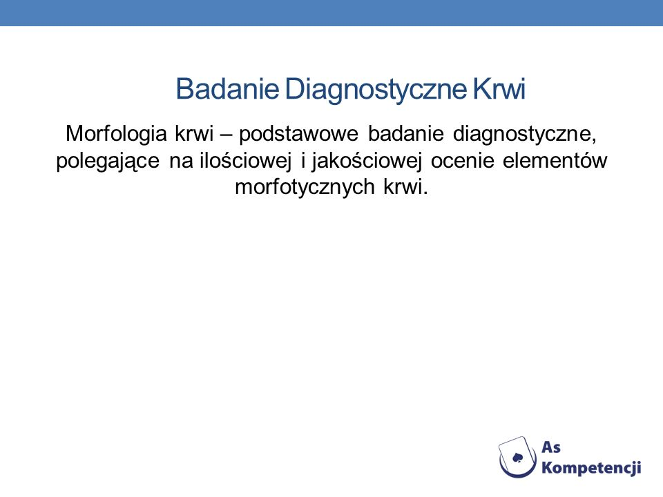 Badanie Diagnostyczne Krwi