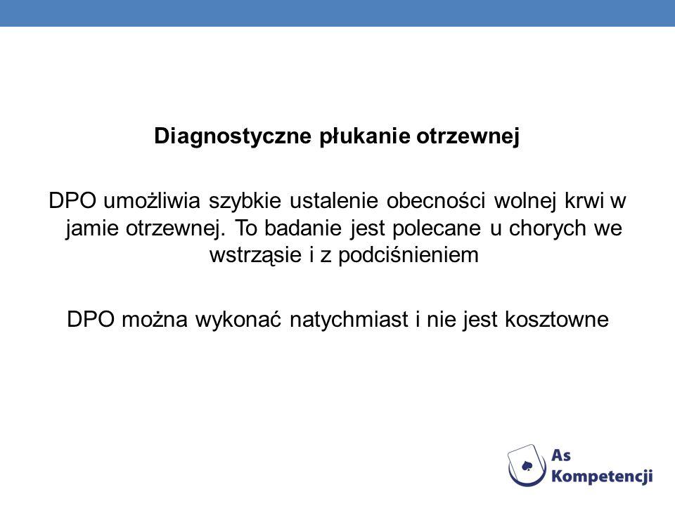 Diagnostyczne płukanie otrzewnej