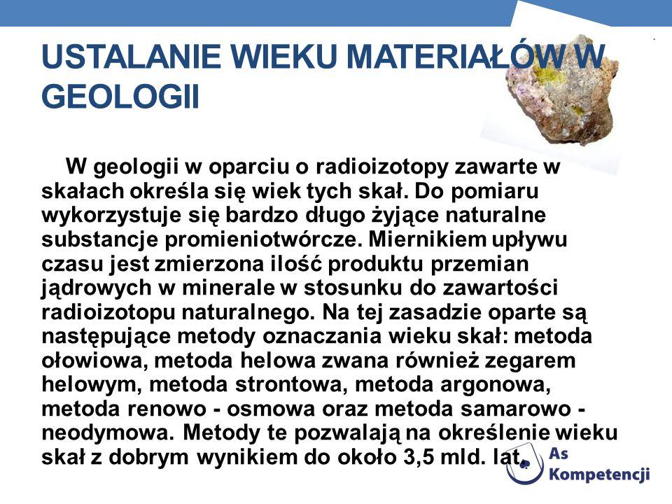 Ustalanie wieku materiałów w geologii