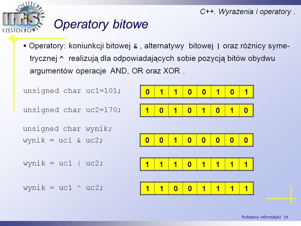 C++. Wyrażenia i operatory .