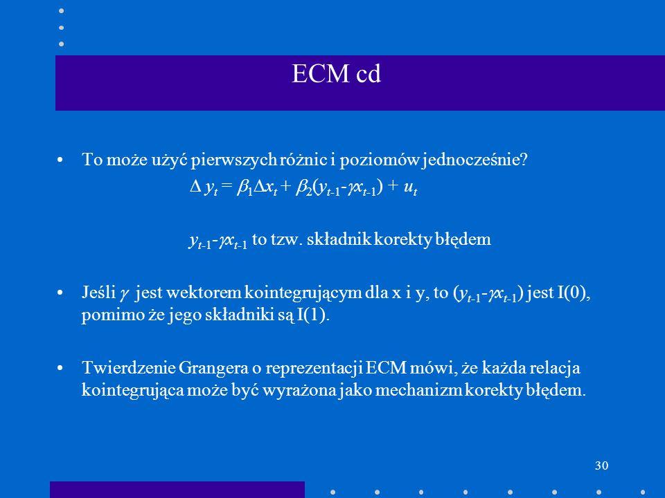 ECM cd To może użyć pierwszych różnic i poziomów jednocześnie