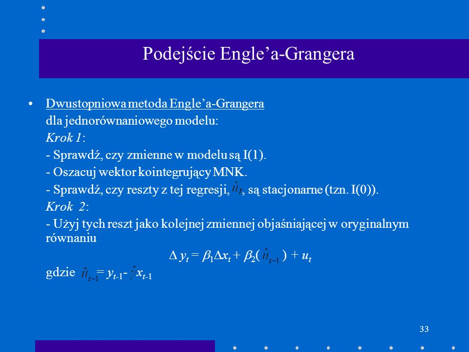 Podejście Engle'a-Grangera