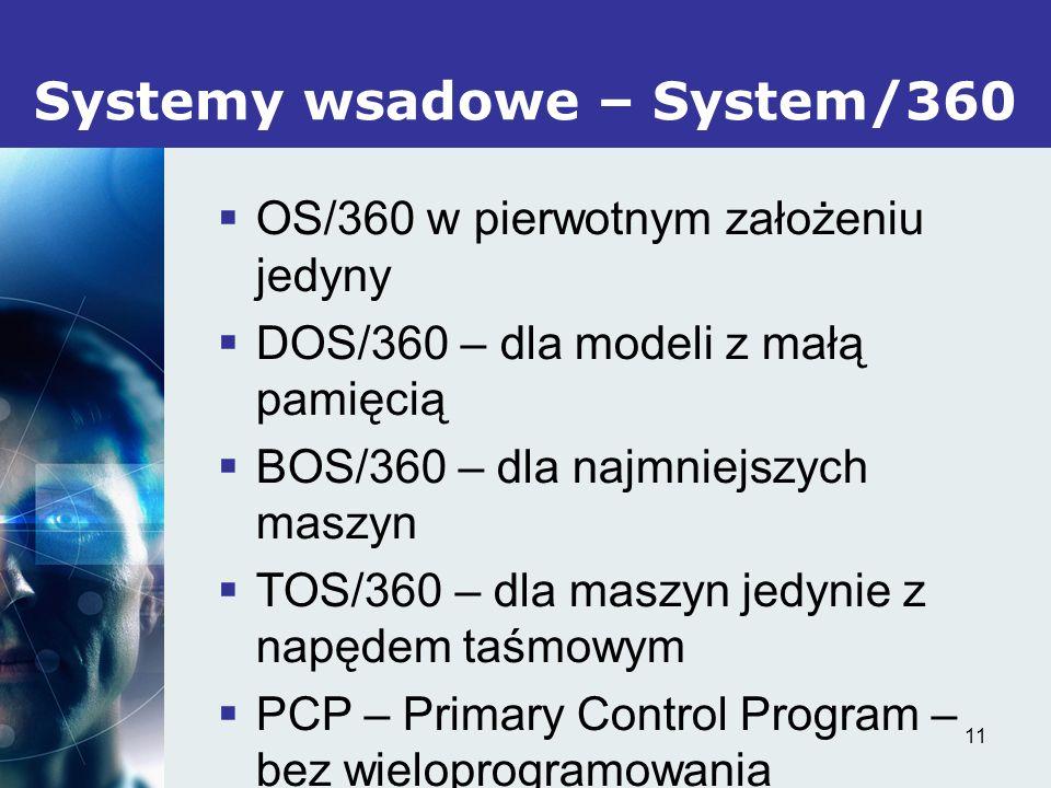 Systemy wsadowe – System/360