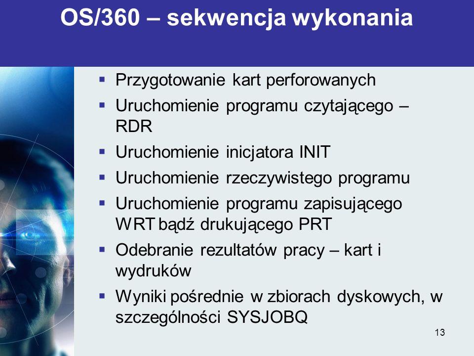 OS/360 – sekwencja wykonania
