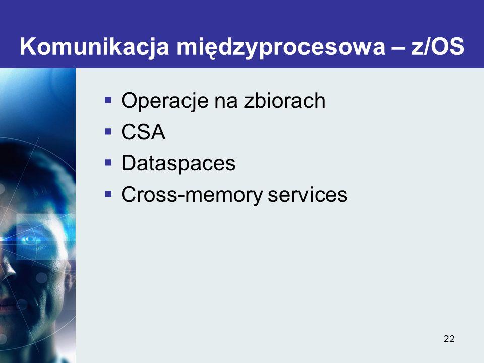 Komunikacja międzyprocesowa – z/OS