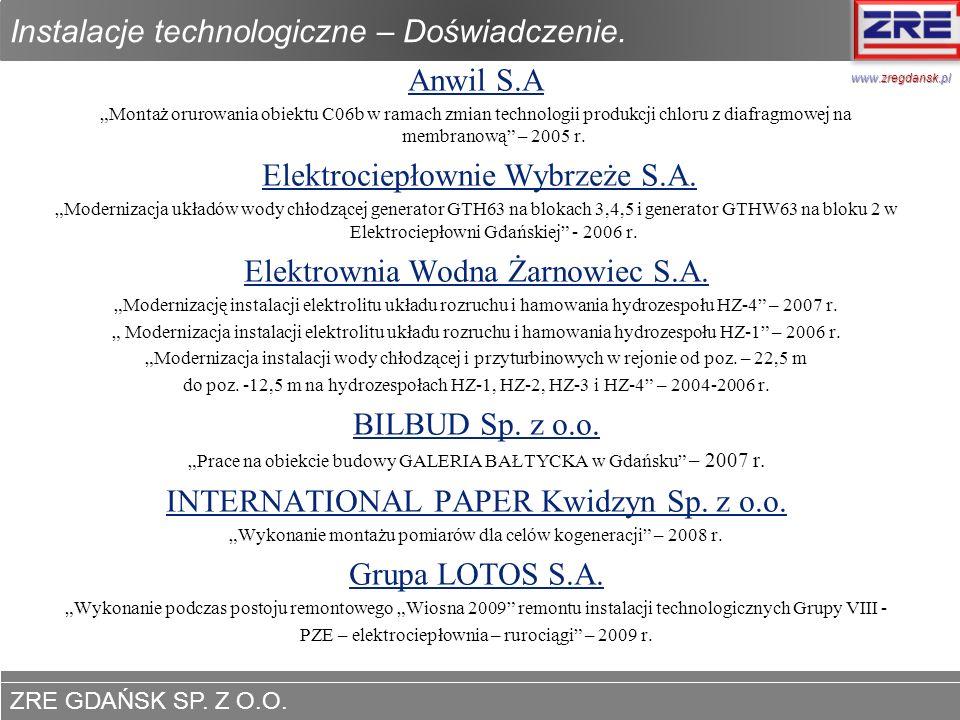 Instalacje technologiczne – Doświadczenie.