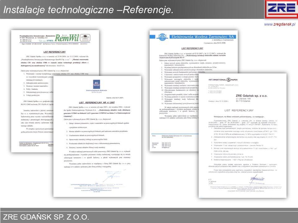 Instalacje technologiczne –Referencje.