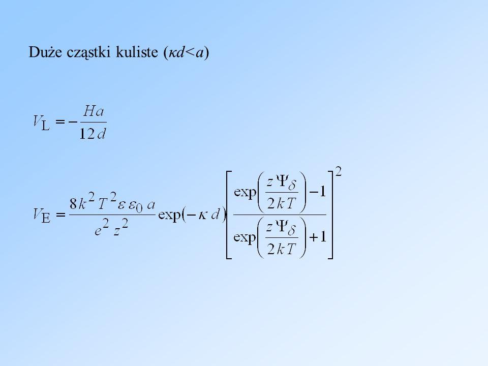 Duże cząstki kuliste (κd<a)