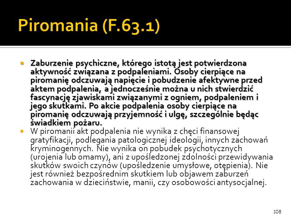 Piromania (F.63.1)