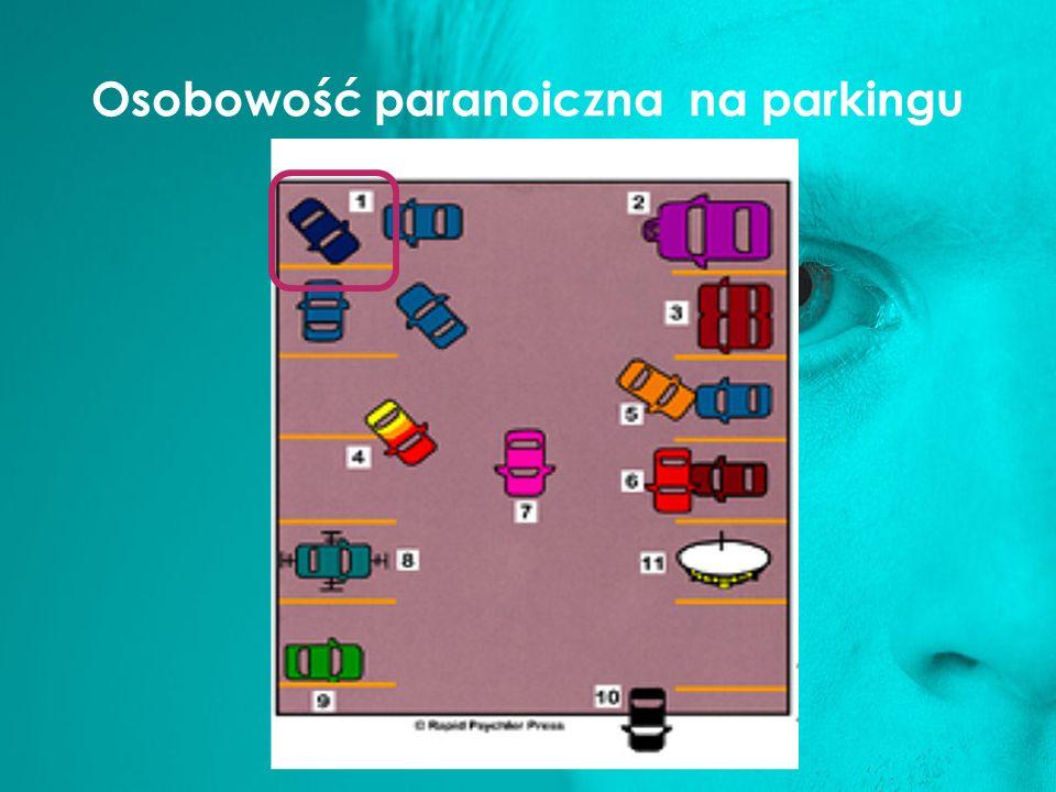 Osobowość paranoiczna na parkingu