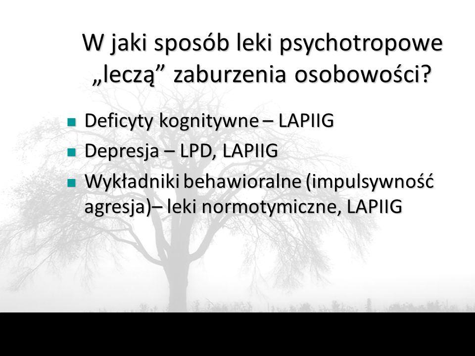 """W jaki sposób leki psychotropowe """"leczą zaburzenia osobowości"""