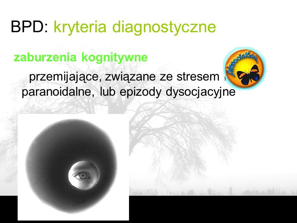 BPD: kryteria diagnostyczne