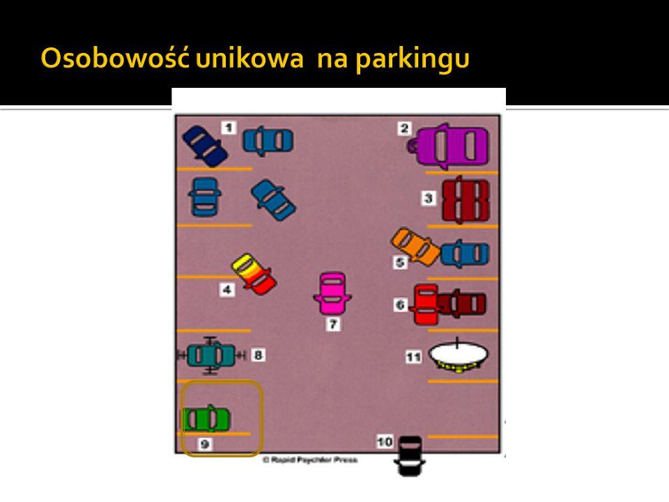 Osobowość unikowa na parkingu