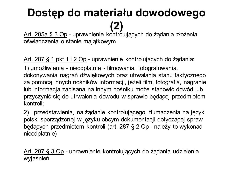 Dostęp do materiału dowodowego (2)