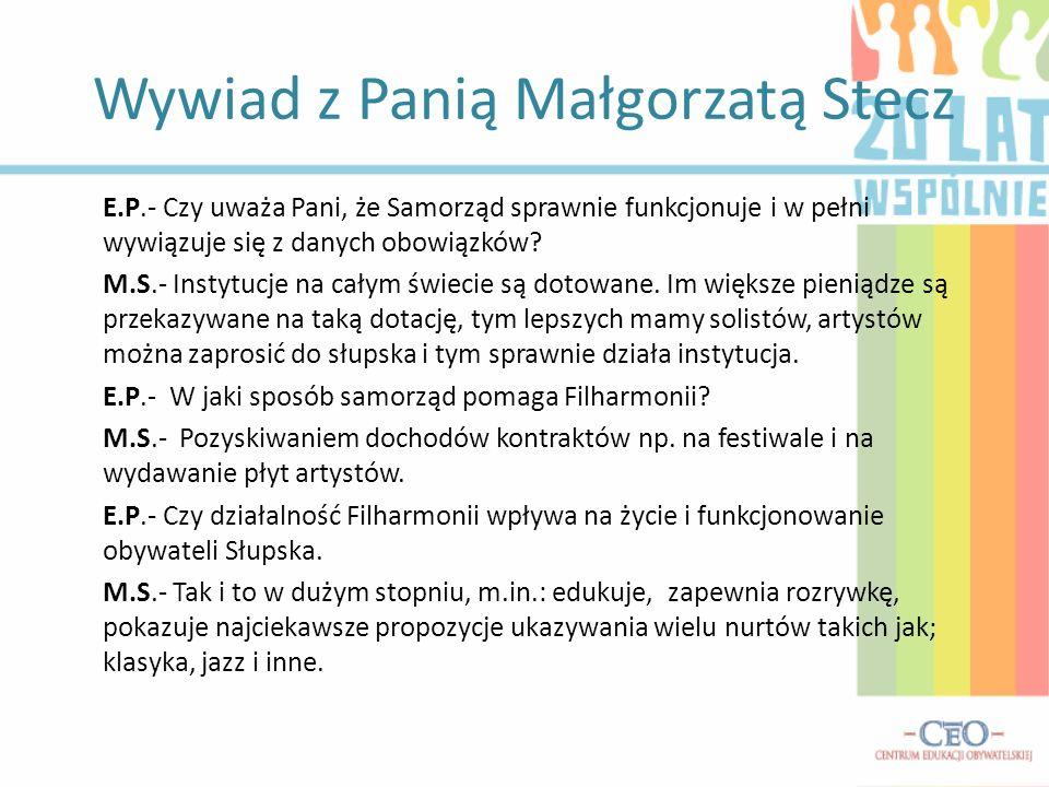 Wywiad z Panią Małgorzatą Stecz