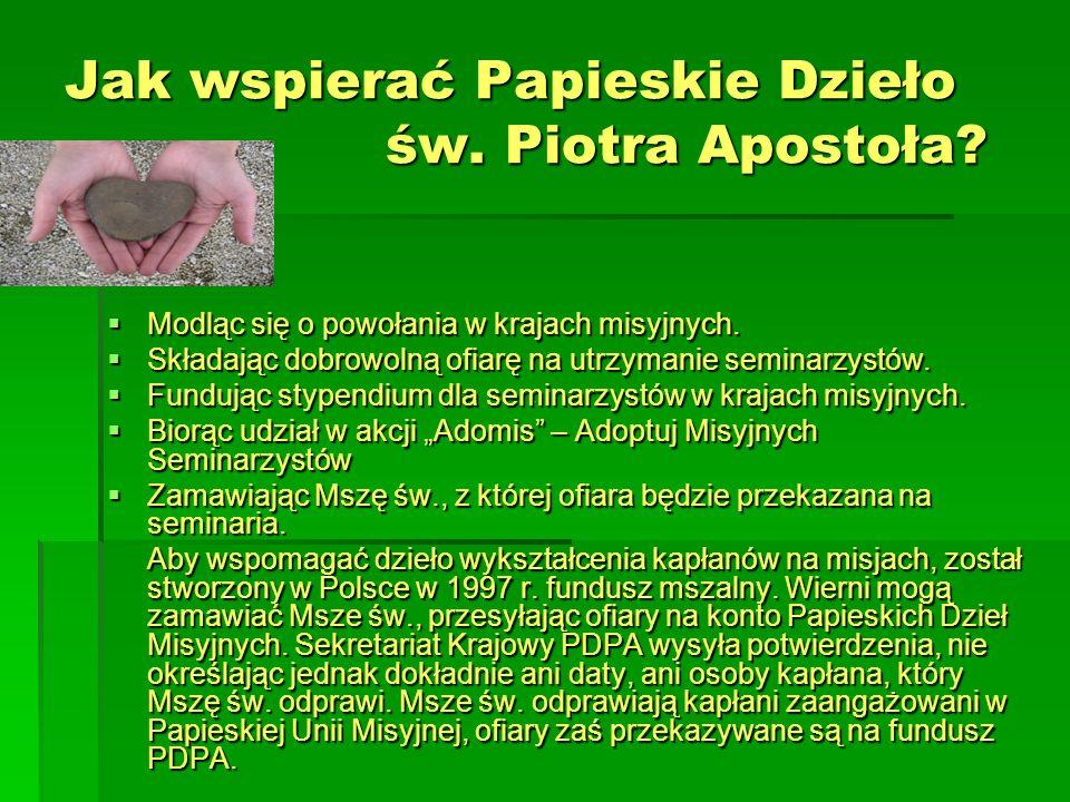 Jak wspierać Papieskie Dzieło św. Piotra Apostoła