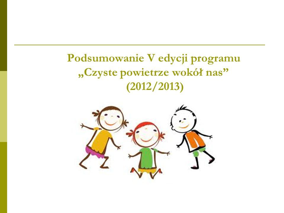 """Podsumowanie V edycji programu """"Czyste powietrze wokół nas (2012/2013)"""