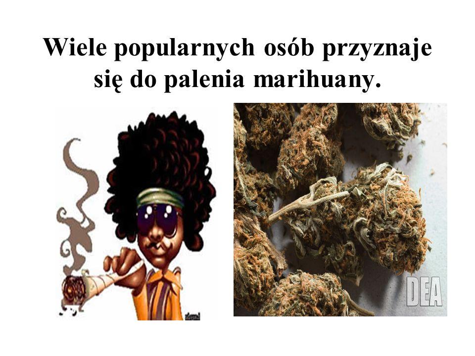 Wiele popularnych osób przyznaje się do palenia marihuany.