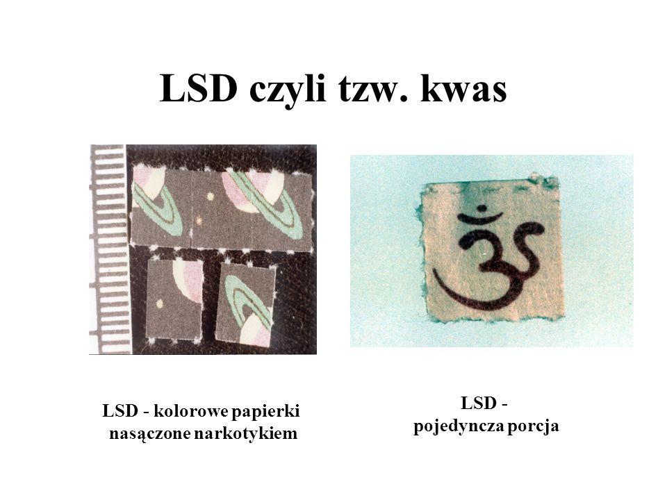 LSD - kolorowe papierki nasączone narkotykiem
