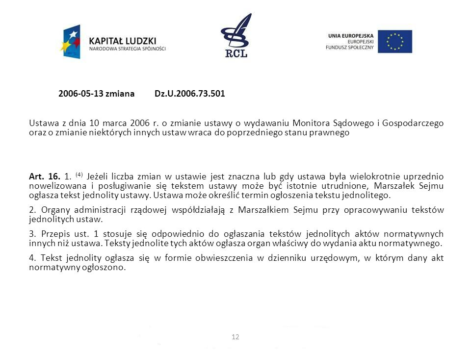 2006-05-13 zmiana Dz.U.2006.73.501