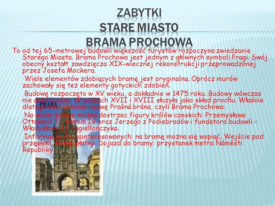 zabytki Stare miasto Brama Prochowa