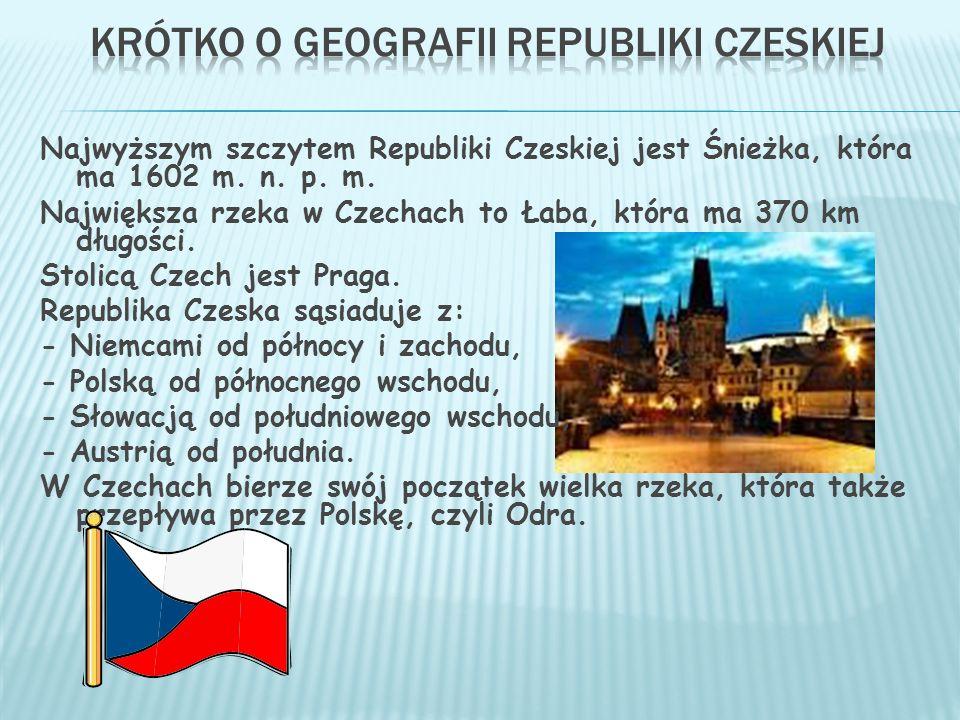 Krótko o geografii Republiki Czeskiej