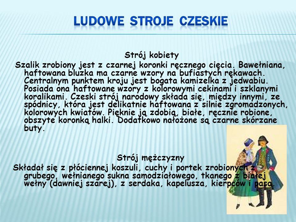 Ludowe Stroje czeskie Strój kobiety