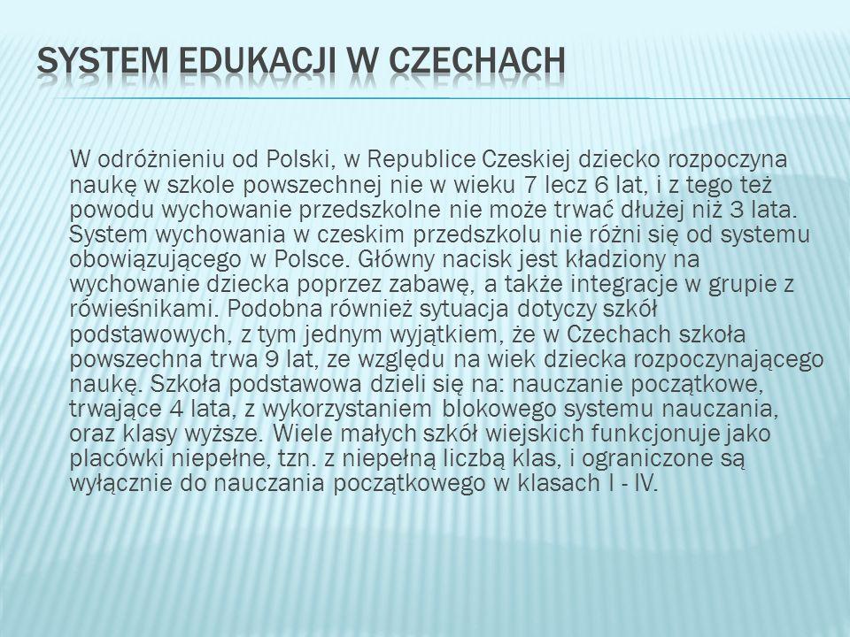 System edukacji w Czechach