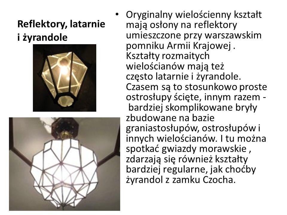 Reflektory, latarnie i żyrandole