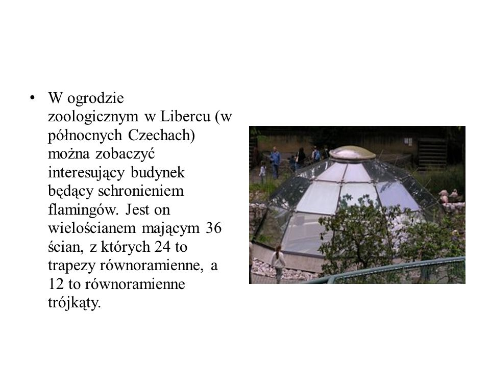 W ogrodzie zoologicznym w Libercu (w północnych Czechach) można zobaczyć interesujący budynek będący schronieniem flamingów.