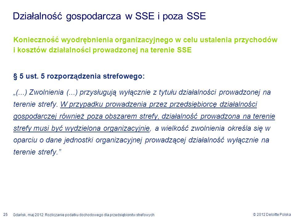 Działalność gospodarcza w SSE i poza SSE