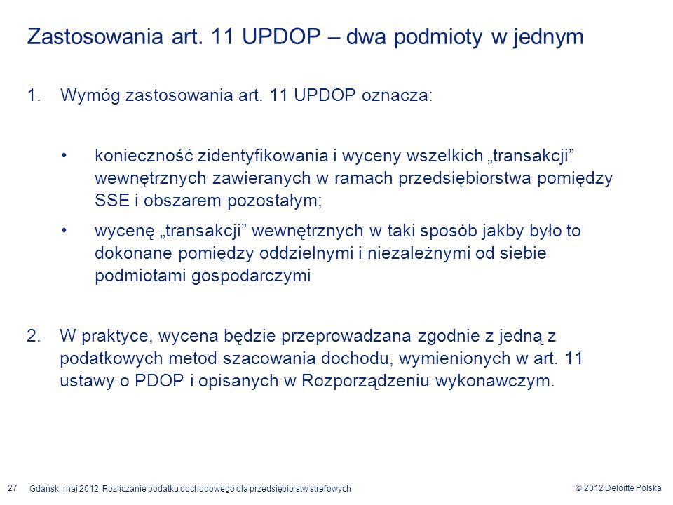Zastosowania art. 11 UPDOP – dwa podmioty w jednym