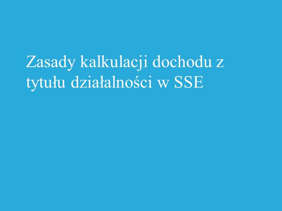 Zasady kalkulacji dochodu z tytułu działalności w SSE