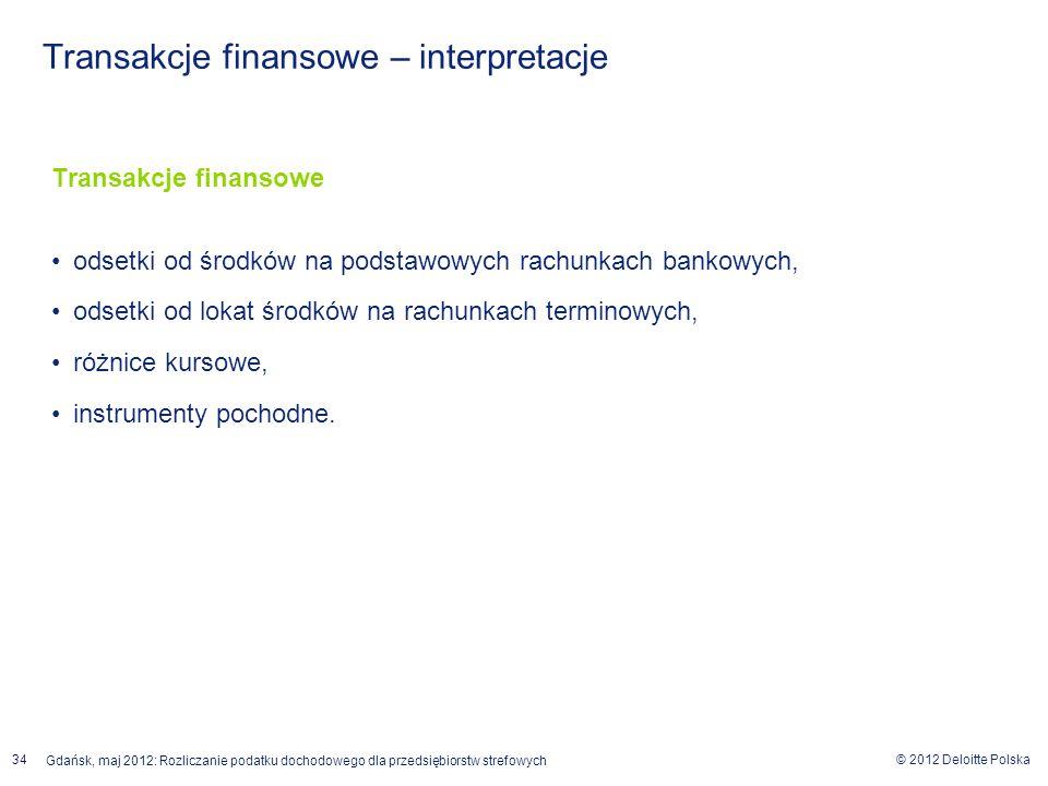 Transakcje finansowe – interpretacje