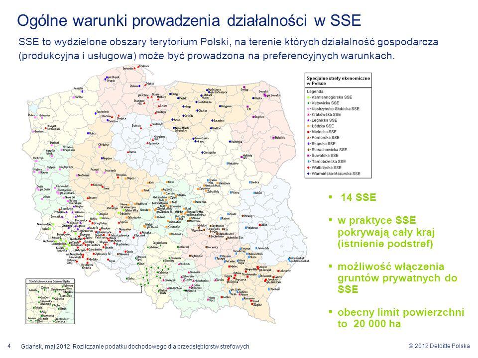 Ogólne warunki prowadzenia działalności w SSE