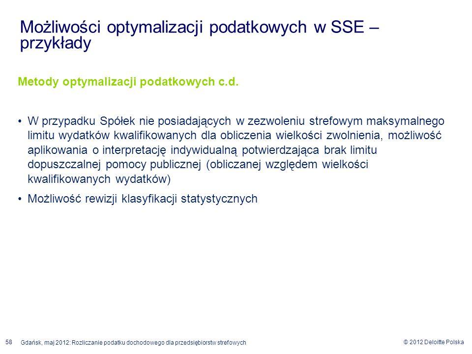 Możliwości optymalizacji podatkowych w SSE – przykłady
