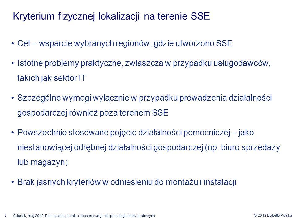 Kryterium fizycznej lokalizacji na terenie SSE
