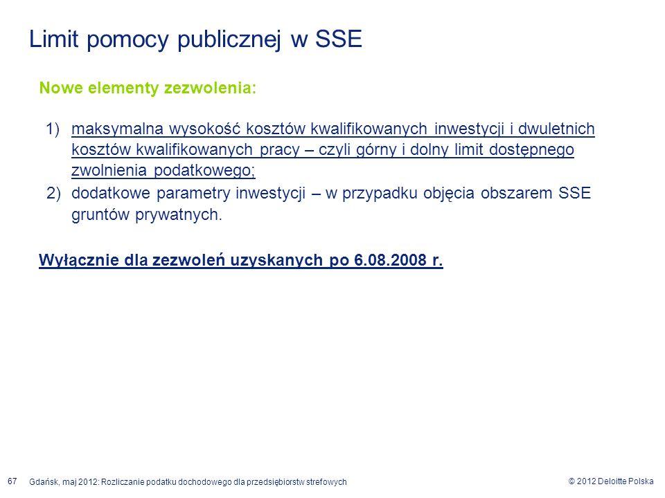 Limit pomocy publicznej w SSE