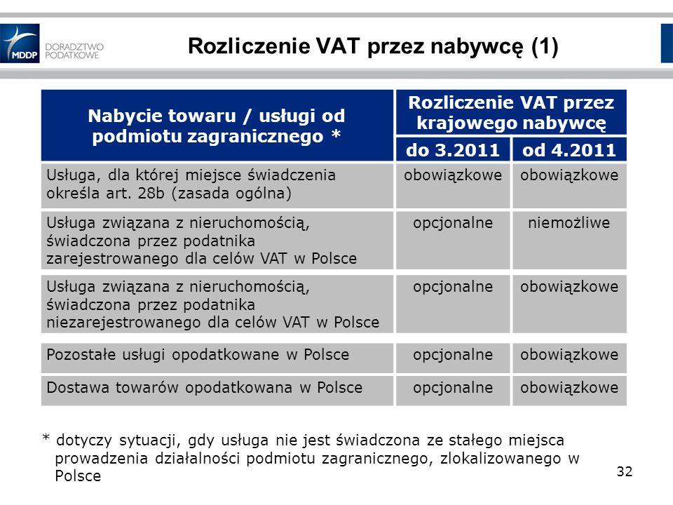 Rozliczenie VAT przez nabywcę (1)