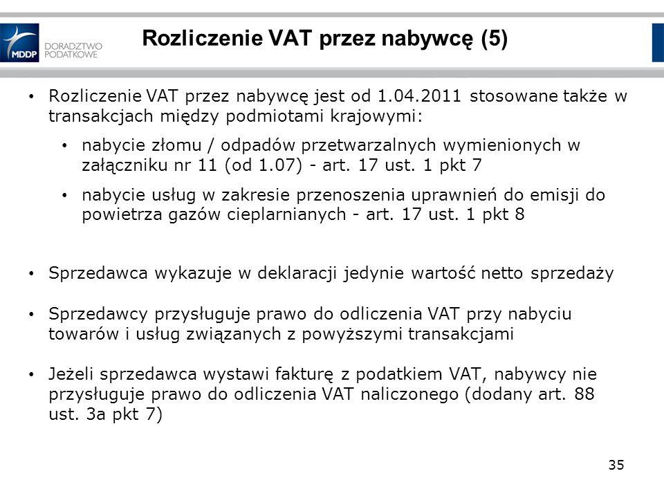 Rozliczenie VAT przez nabywcę (5)