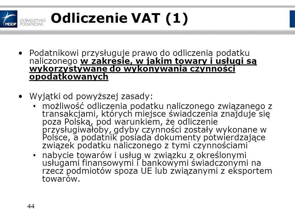 Odliczenie VAT (1)