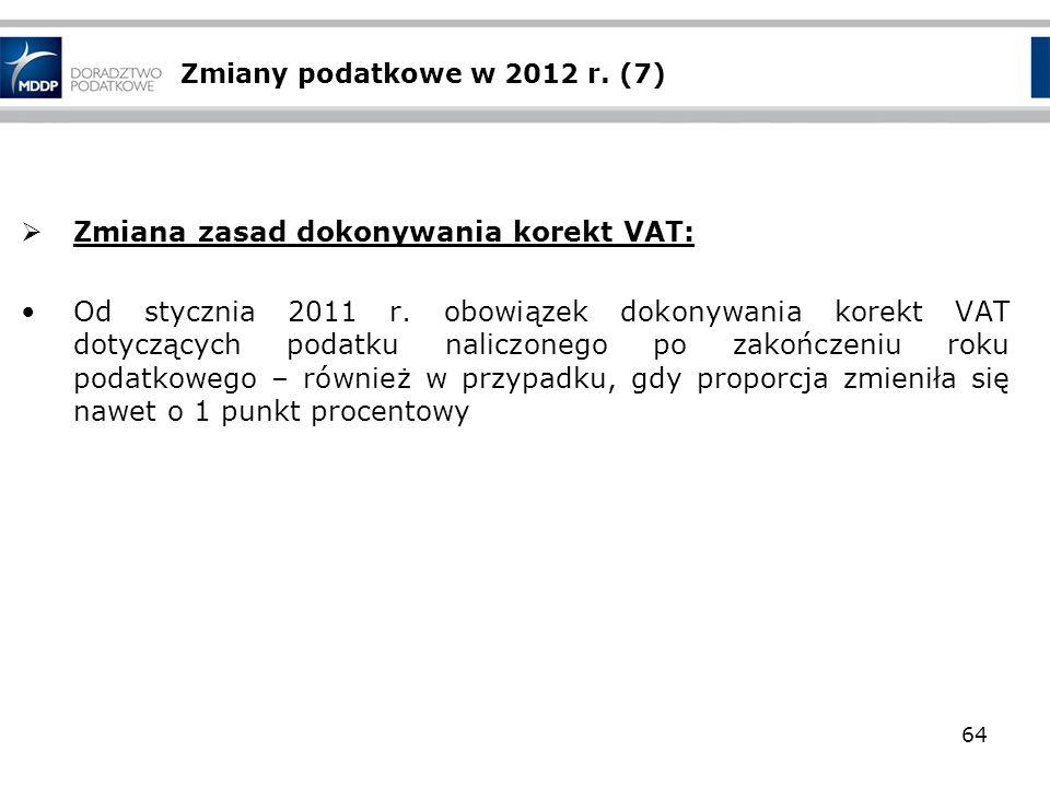 Zmiana zasad dokonywania korekt VAT: