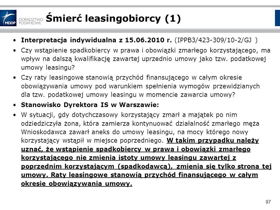 Śmierć leasingobiorcy (1)
