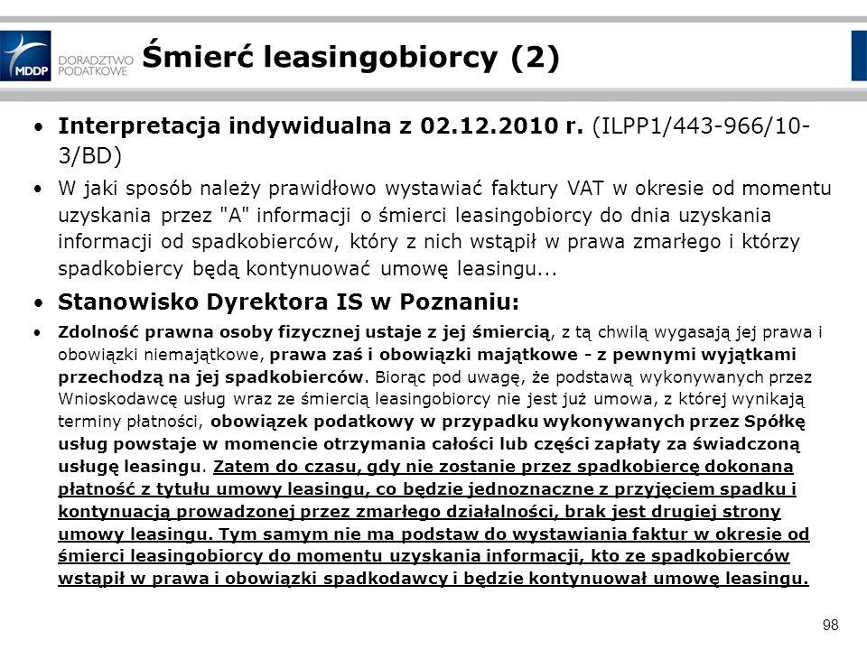 Śmierć leasingobiorcy (2)
